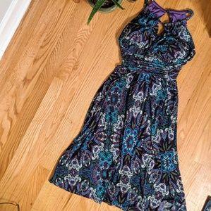 Purple Paisley Dress